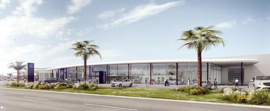 Sécurisation de la concession automobile Saga Mercedes à Mouilleron-le-Captif - Vendée